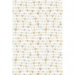 Balicí svatební papír LUX - srdíčka