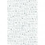 Balicí svatební papír LUX - nápisy