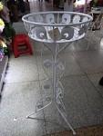 Kovová dekorace stojan - 1 květináč
