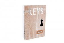 Dřevěná krabička na klíče - KEYS