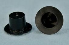 Cylindr mini matný černý - výška 15 mm