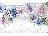 Girlanda papírová - pastelové vlaječky