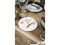 Svatební přízdoba - papírová mašle růžová - 6ks