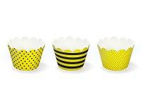 Košíček na cupcakes (muffin) - VČELKA - 6ks