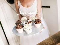 Košíček na cupcakes (muffin) - stříbrnorůžové, zlatý okraj - 6ks