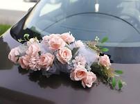 Koule z růží krémová 20 cm - dekorace na auto