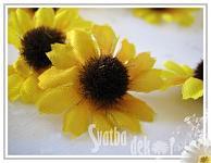 Květ slunečnice mini 1ks