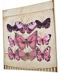 Motýlci mix velikostí - 9ks - růžová