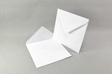 Obálka čtverec 130mm - bílá