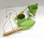 Plechové nářadí mini - pastelově zelené