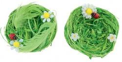 Zelená hnízdečka s beruškou - 2 ks