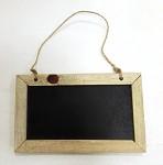 Dřevěná křídová tabulka - obdélník 20 cm