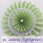 Rozeta závěsná krajková - sv.zelená 30cm