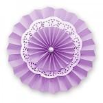 Rozeta závěsná krajková - fialová  30cm