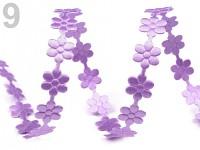 Květinky fialové  - metráž