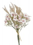 Kytice - růže a hortenzie - bílo-lososová
