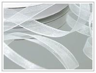 Šifonová stuha bílá 7 mm  - 1 m