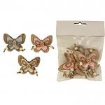 Dřevění motýlci  -  10ks