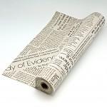Látková šerpa přírodní   - potisk noviny-  1 m