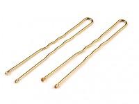 Vlásenky zlaté 50ks - 60mm