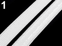 Pruženka se silikonem - 10mm bílá -1m