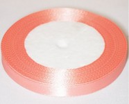 Saténová stuha 10mm -  lososová - 1m