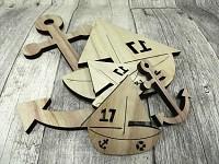 Plachetnice a kotvy dřevěné - mix