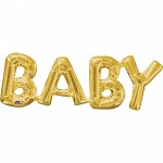 BABY - foliový nápis - zlatý