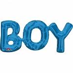 BOY - foliový nápis - modrý