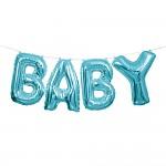 BABY- foliový nápis - modrý
