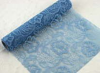 Krajka dekorační modrošedá rose -  30cm /5m
