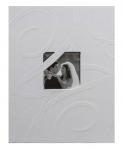 Svatební fotoalbum na fotolepky - ornament- bílé