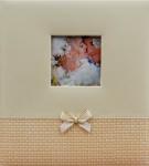 Svatební fotoalbum na fotolepky - krémové s mašličkou