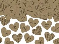 Konfety srdce - recyklované s potiskem