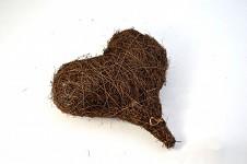 Závěsné srdce réva plné - 15 cm