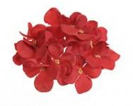 Vazbový květ hortenzie - červený malý