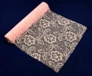 Krajka dekorační sv.růžová rose -  30cm /5m