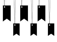 Visačka - vlaječky černé  - 6ks