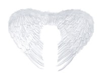 Andělská křídla - bílá - 53x 37 cm