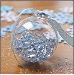 Závěsná koule plastová 6 cm - čirá