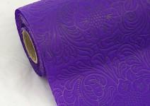 Vlizelín sametový vzor - 50cm - 4,5m - tm.fialový