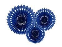 Rozety závěsné - tm.modré děrované - 3ks