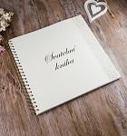 Svatební kniha hostů LUX - krémová