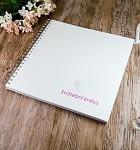Svatební kniha hostů LUX - bílá s otisky