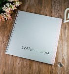 Svatební kniha hostů LUX - stříbrno - růžová