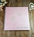 Svatební kniha hostů LUX - růžová s motýlky