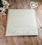 Svatební kniha hostů LUX - kávová perleť