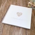 Svatební kniha hostů LUX - ornament srdce malé