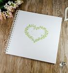 Svatební kniha hostů LUX - ornament srdce velké