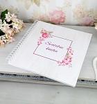 Svatební kniha hostů LUX - vintage dřevodekor s květinami
